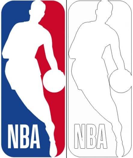 NBA logo coloring page