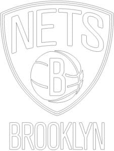 Coloriage Logo Brooklyn Nets