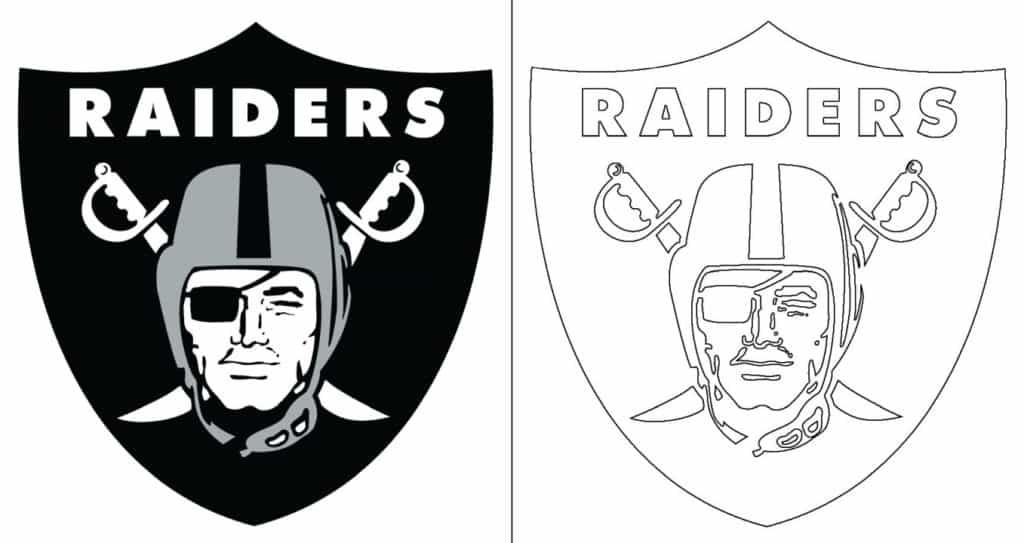 Oakland Raiders logo coloring page