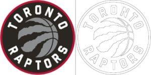 Toronto Raptors logo coloring page