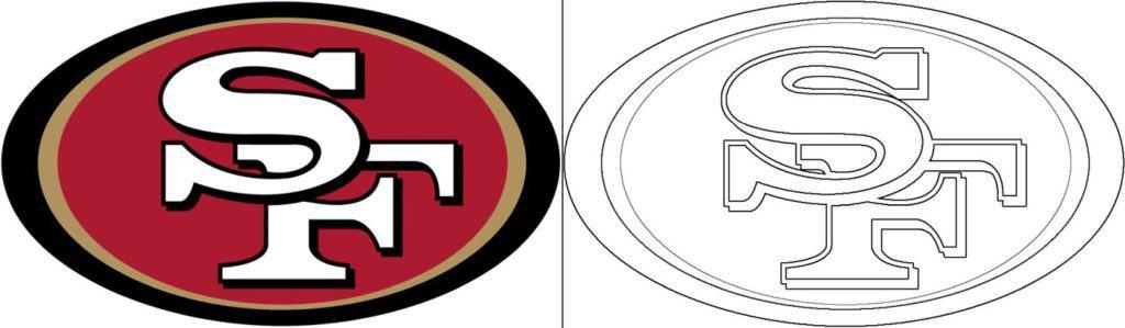 San Francisco 49ers logo coloring page