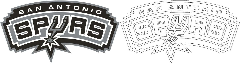 Coloriage Logo avec un échantillon de San Antonio Spurs