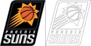Phoenix Suns logo coloring page