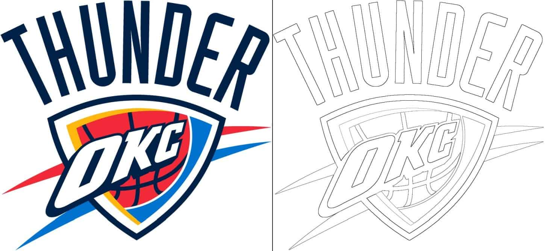 Oklahoma City Thunder logo coloring page
