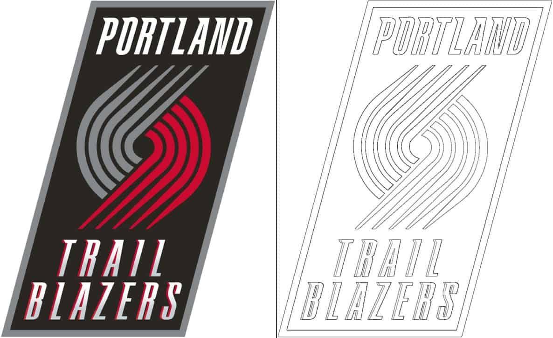 Portland Trail Blazers logo coloring page