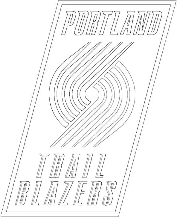 Portland Trail Blazers logo coloring page black and white