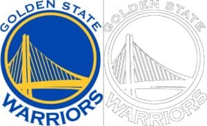 Coloriage Logo avec un échantillon de Golden State Warriors