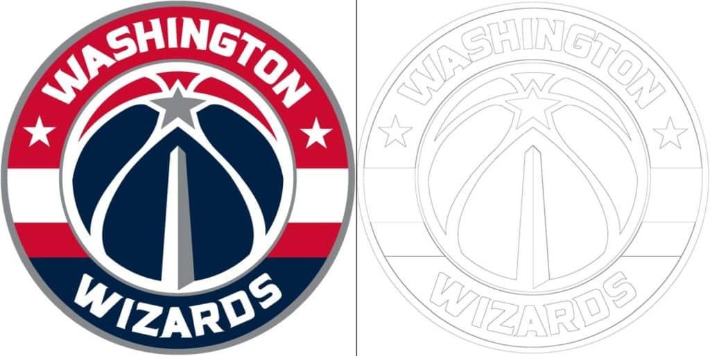 Washington Wizards logo coloring page