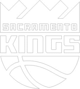 Sacramento Kings logo coloring page black and white