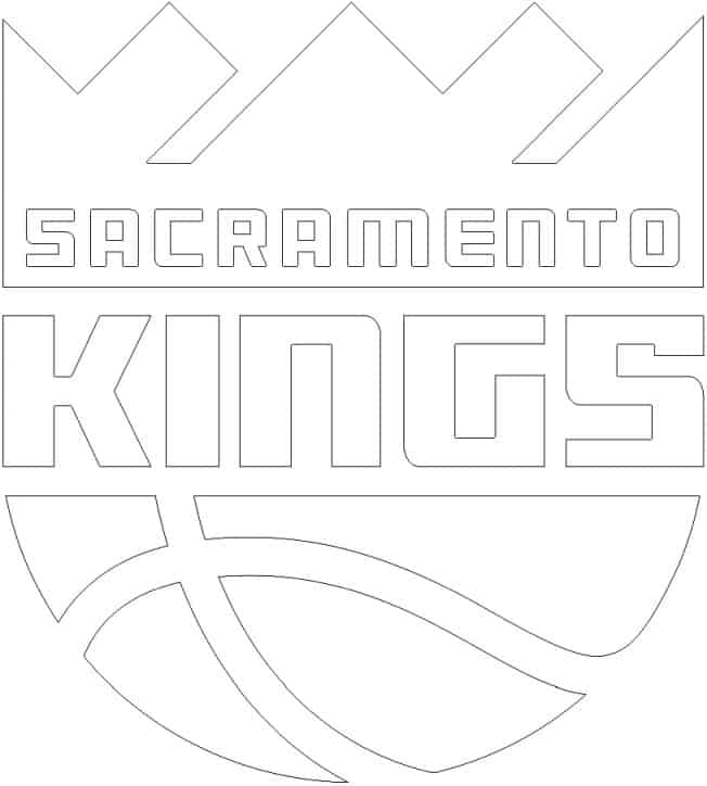 Coloriage Logo Sacramento Kings