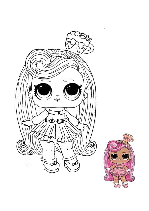LOL Surprise Hairvibes Darling coloring page with sample