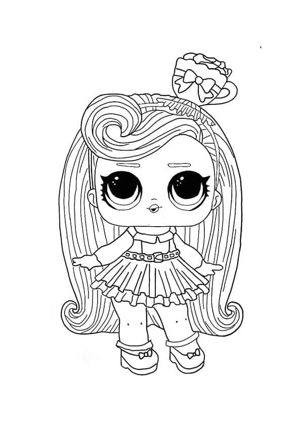 LOL Surprise Hairvibes Darling coloring page