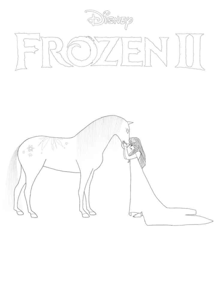 Frozen 2 coloring page - Elsa and Nokk