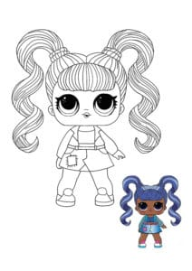 LOL Surprise Hairvibes Jelly Jam coloring page with sample