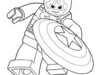 Coloriage Lego Captain America