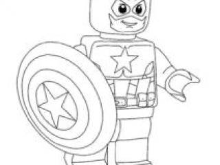 Coloriage Captain America Lego