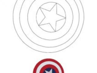 Coloriage Bouclier Captain America
