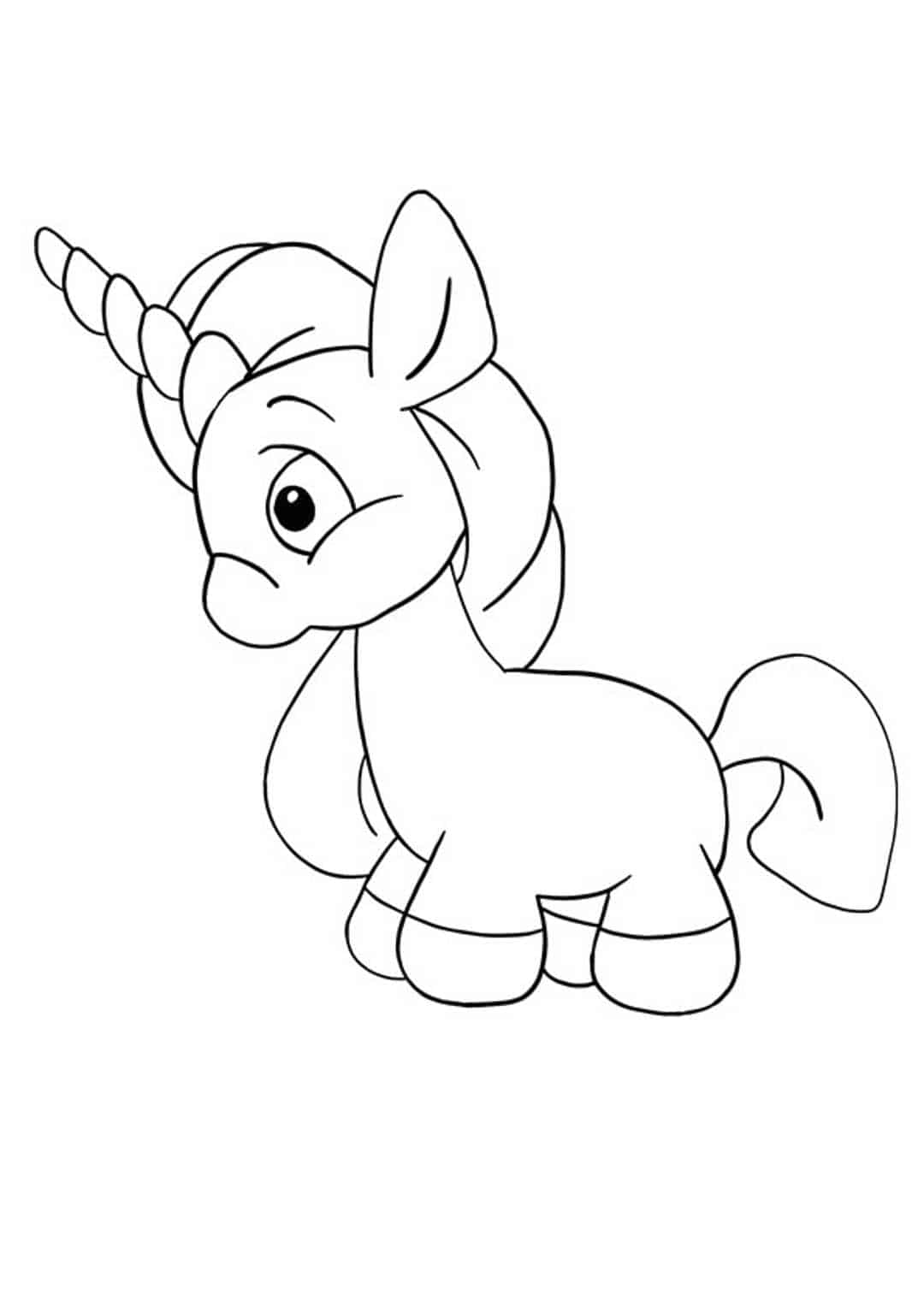 Coloriage petite licorne