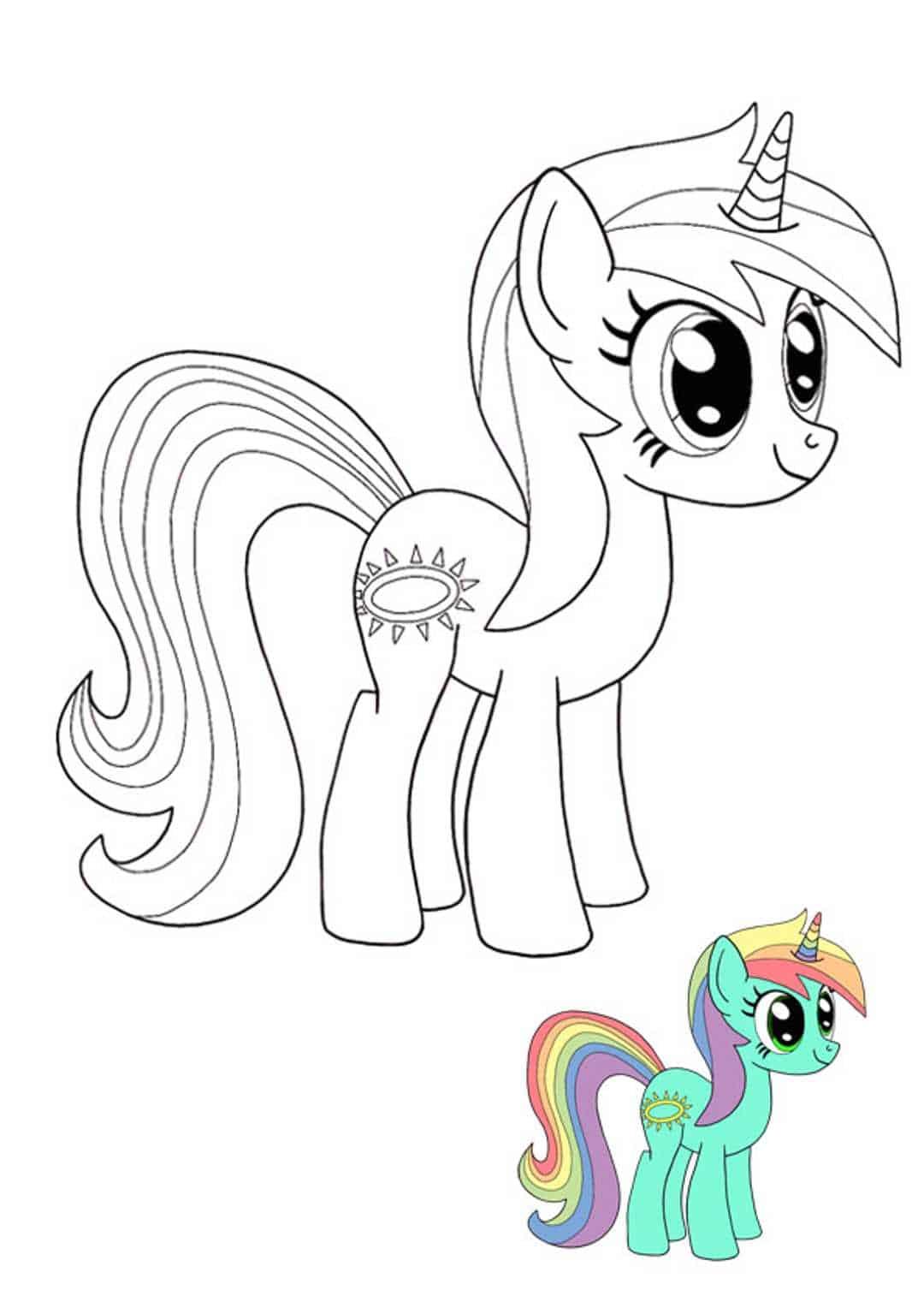 Coloriage Twilight Sparkle My Little Pony licorne