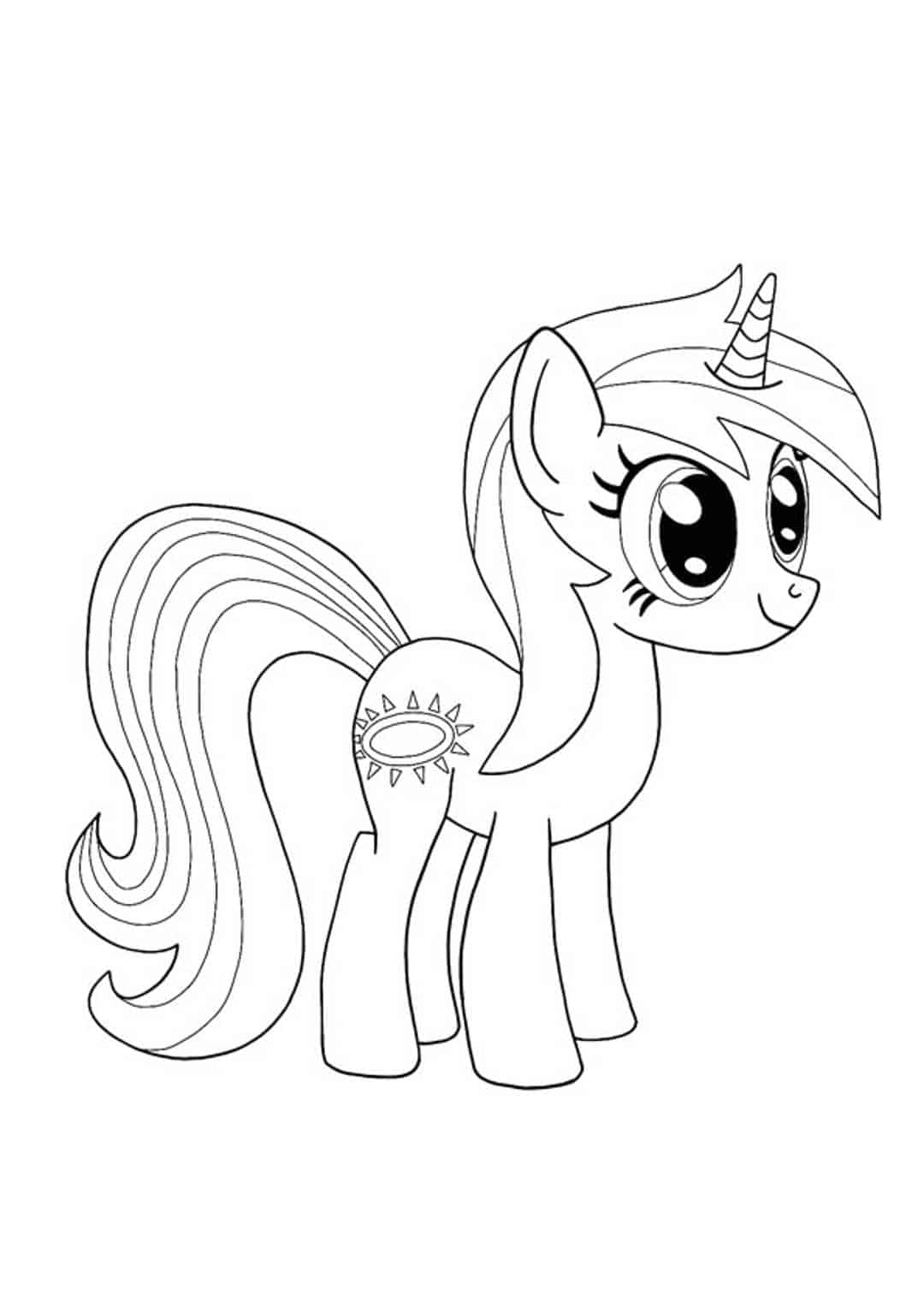 Twilight Sparkle My Little Pony Unicorn coloring page