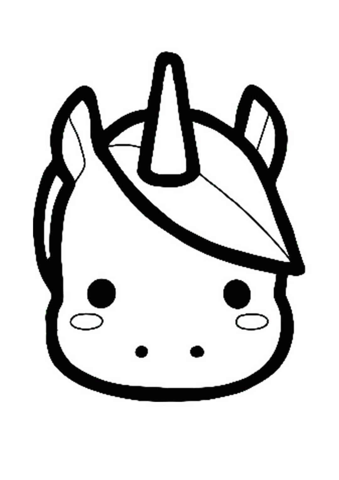 Coloriage emoji licorne
