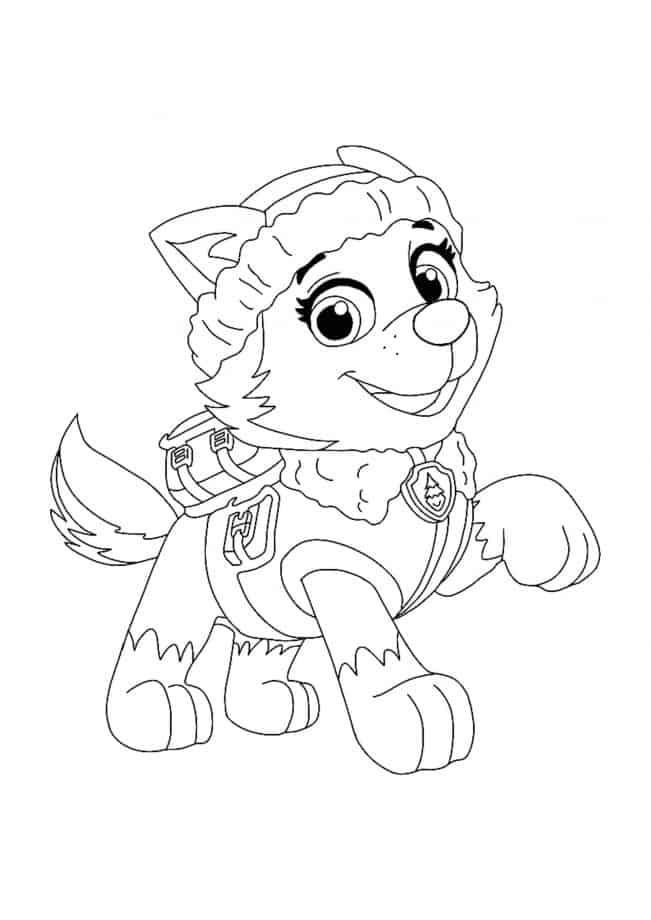 Paw Patrol Everest coloring sheet