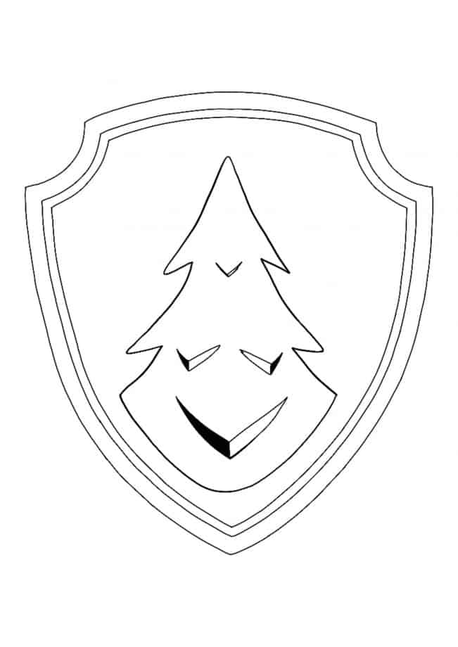 Paw Patrol Everest Logo coloring page