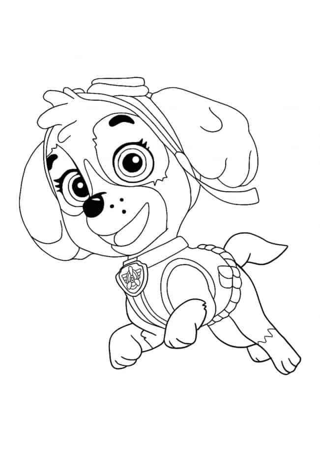 Paw Patrol Skye coloring sheet