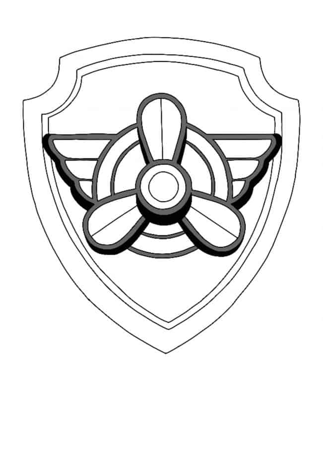 Paw Patrol Skye logo coloring page