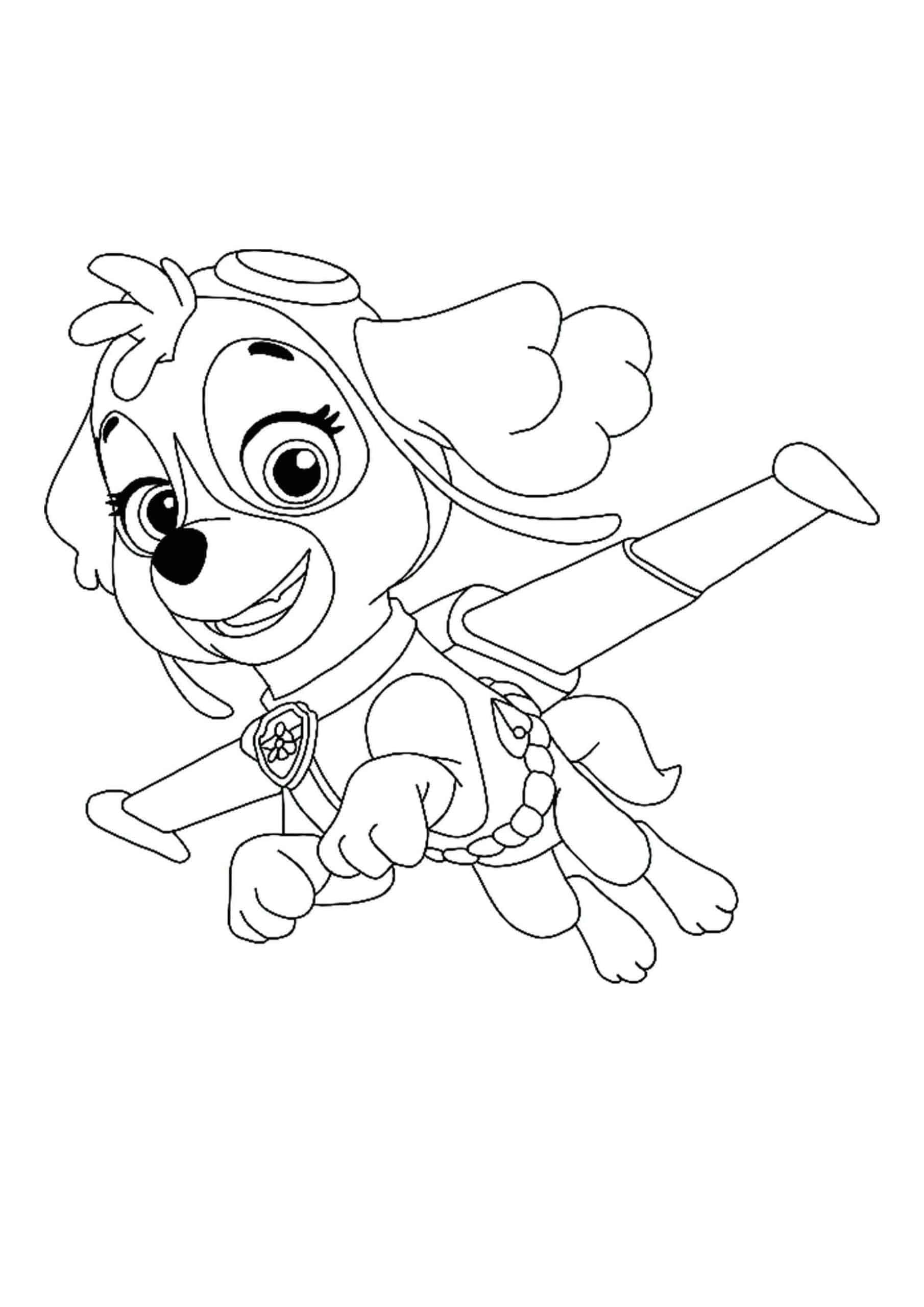 Paw Patrol Skye coloring page