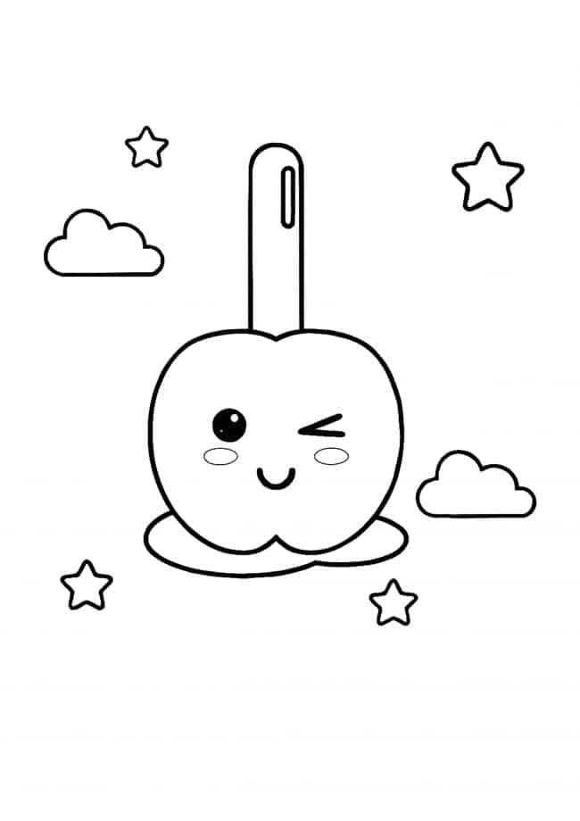 Kawaii Candy coloring page