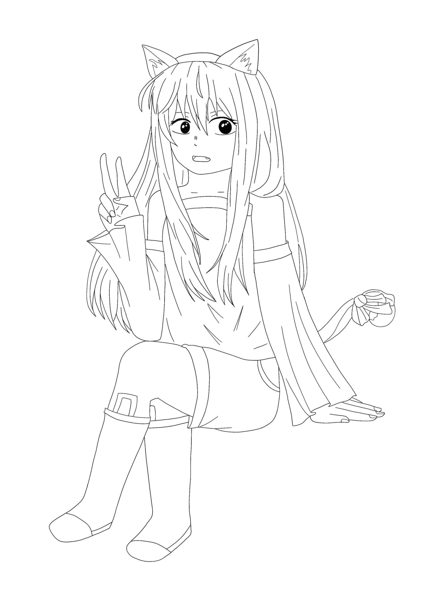 Kawaii Anime Coloring Pages 6 Free Printable Coloring Sheets 2020