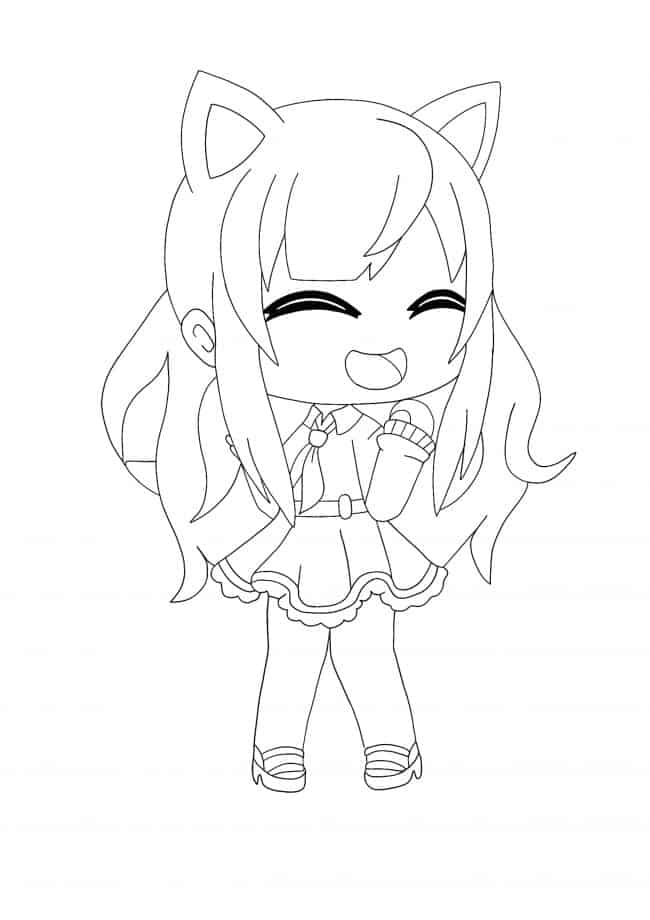 Kawaii Chan Girl coloring page