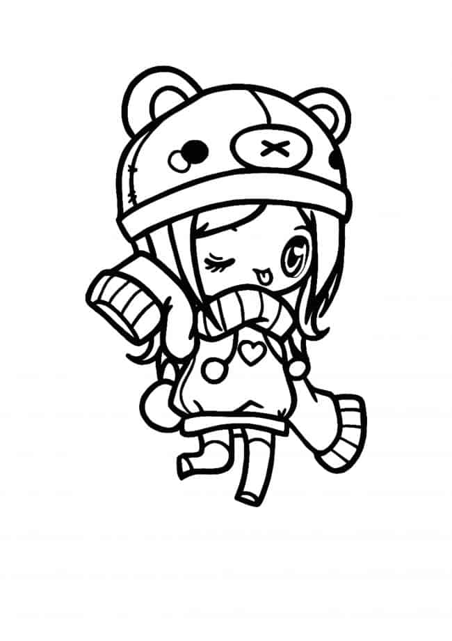 Kawaii Chibi Girl coloring page