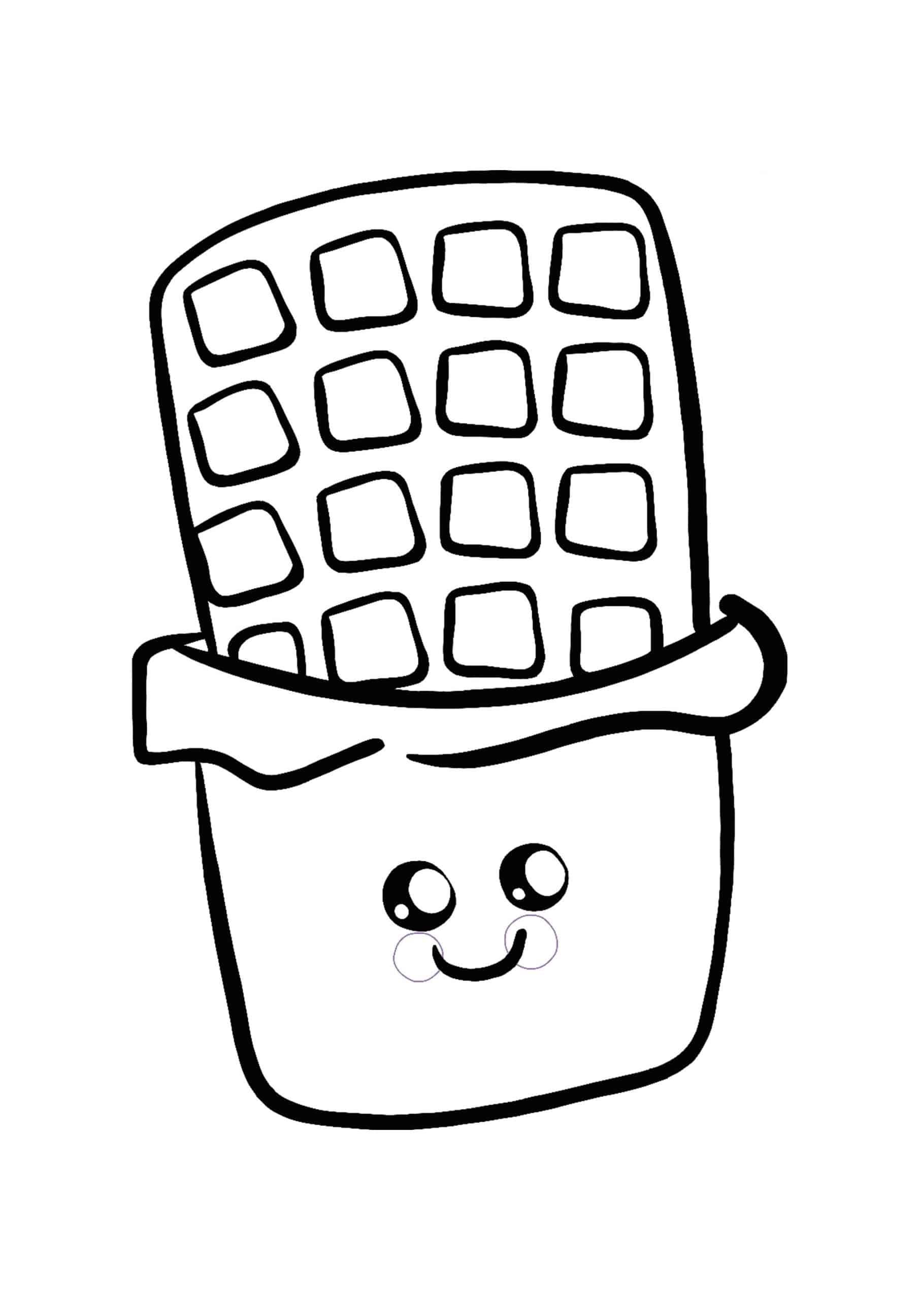 Kawaii Chocolate coloring page