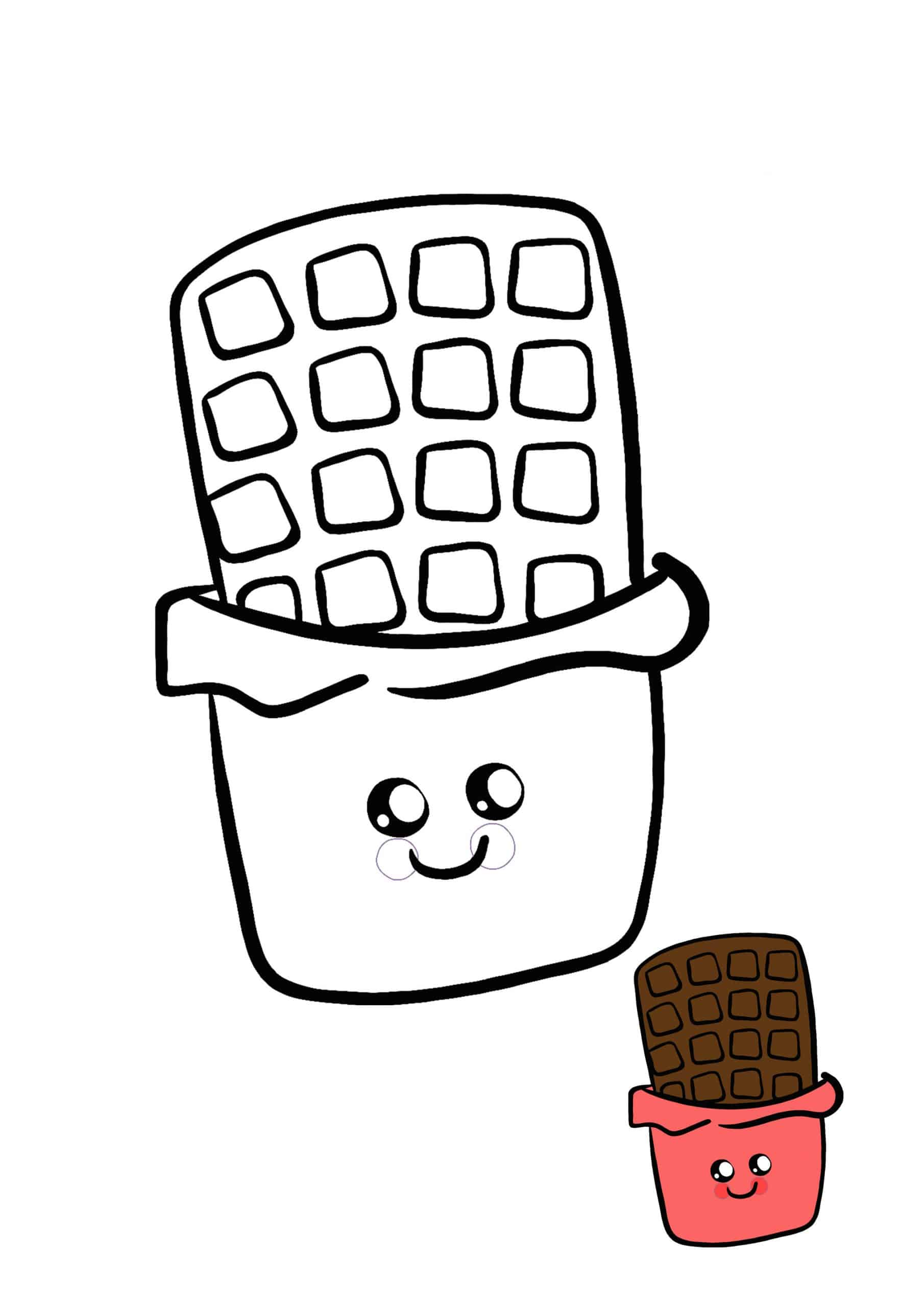 Kawaii Chocolate coloring sheet