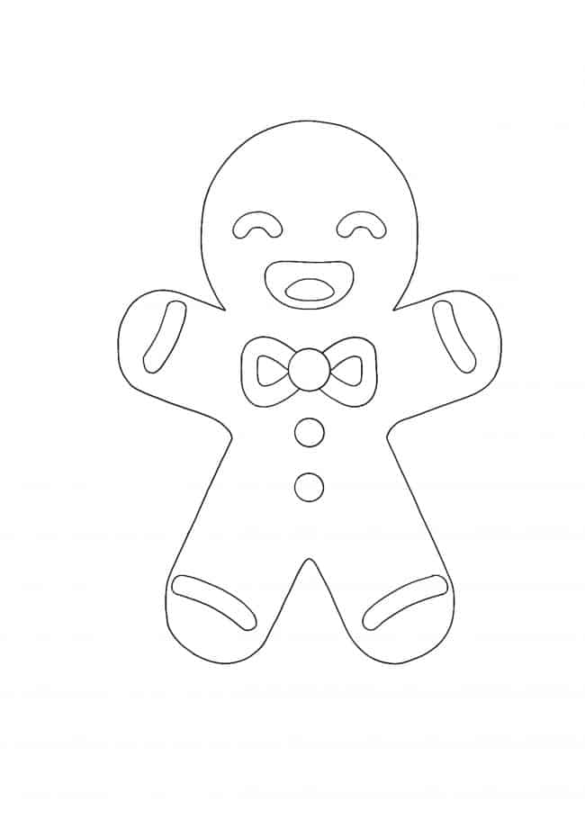 Kawaii Christmas Gingerbread coloring page