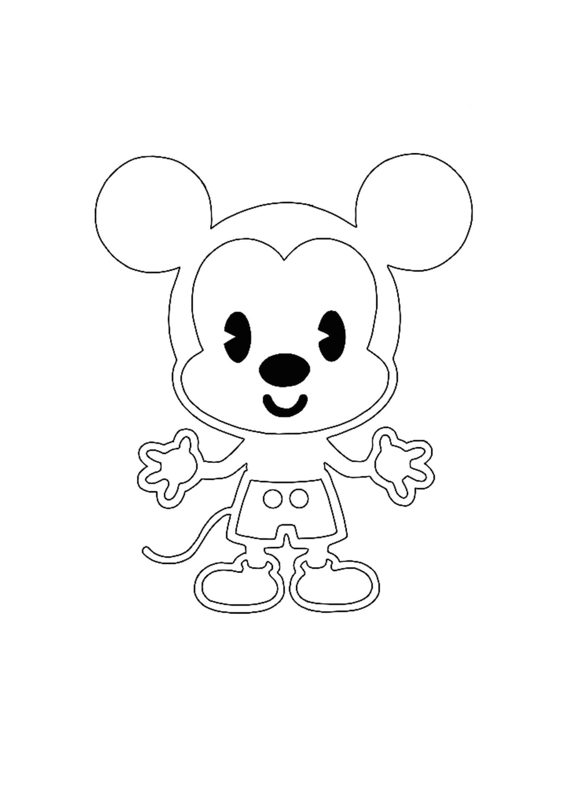 Coloriage Kawaii Disney Mickey