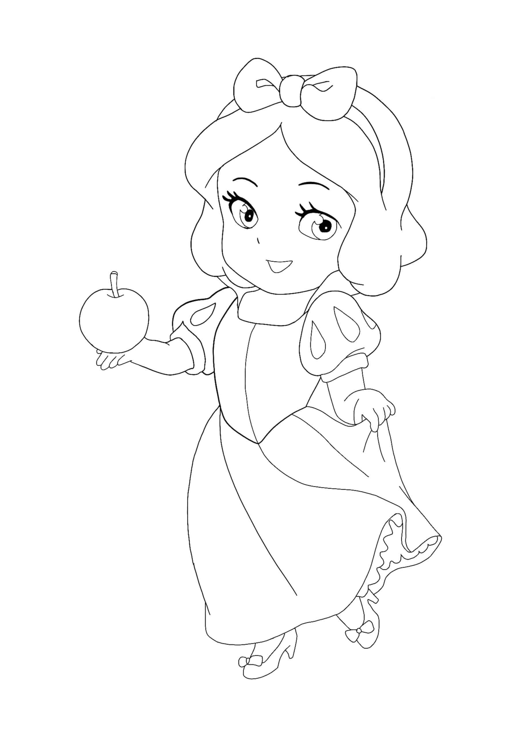 Coloriage Kawaii Disney Princesse Blanche Neige