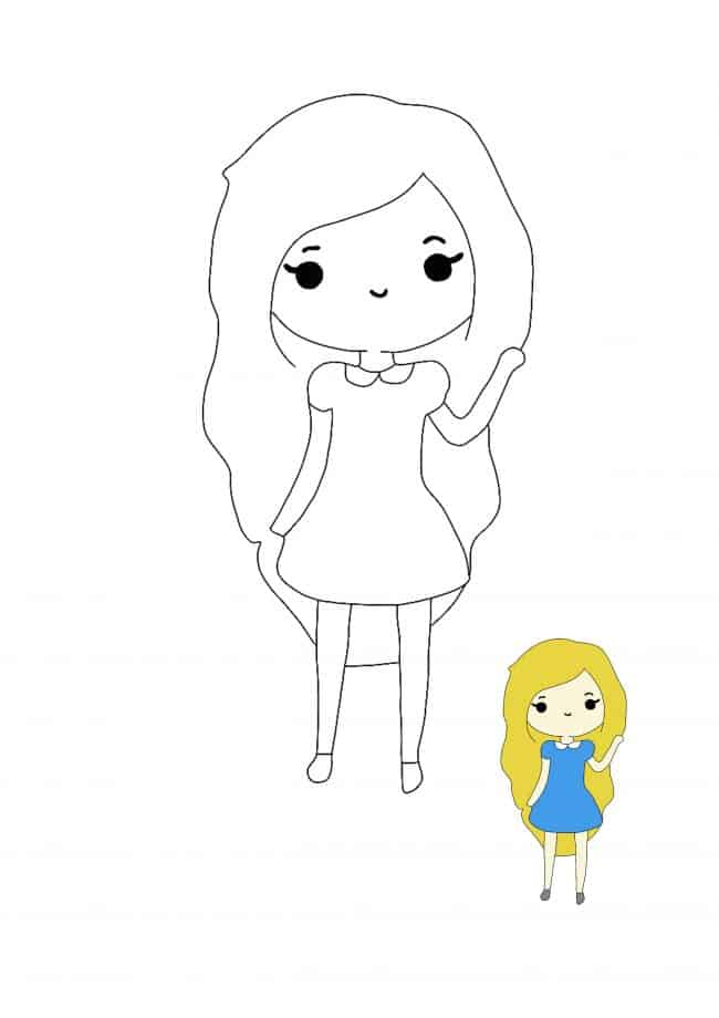 Kawaii People coloring page