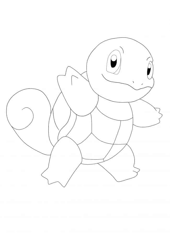 Kawaii Pokemon Squirtle coloring page