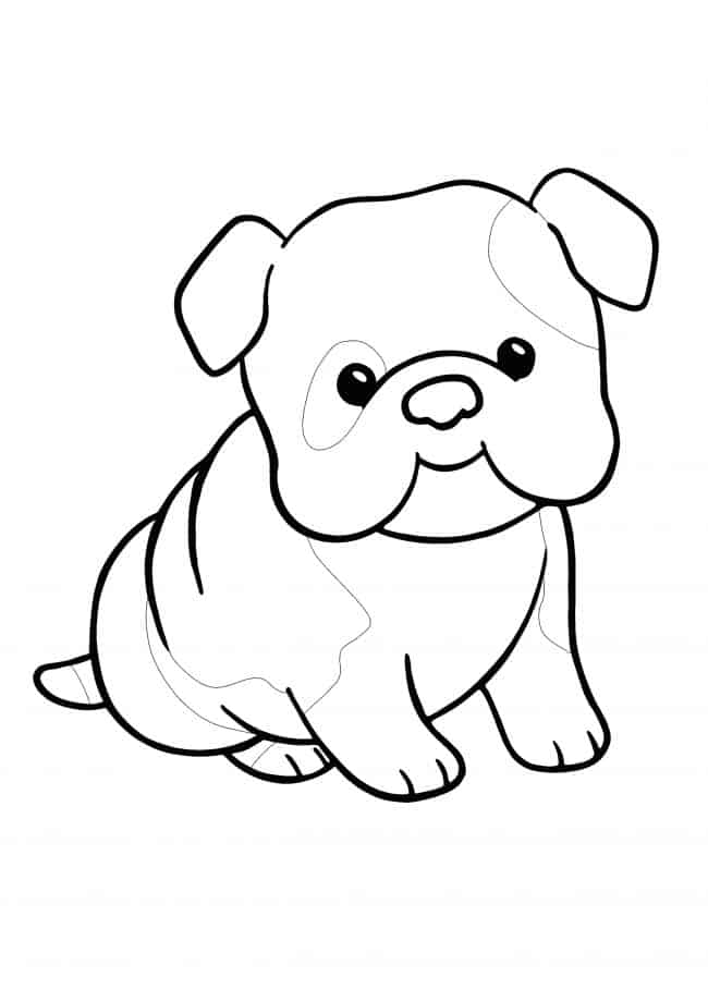 Kawaii Puppy coloring page for kids