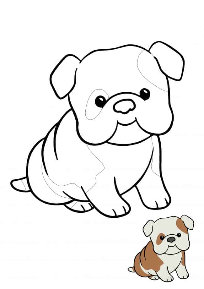 Kawaii Puppy coloring picture