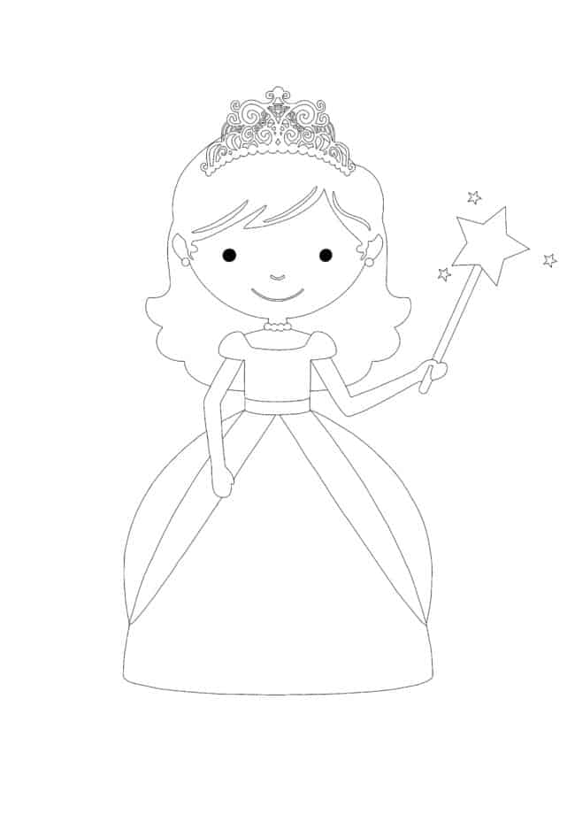 Baby Princess coloring page