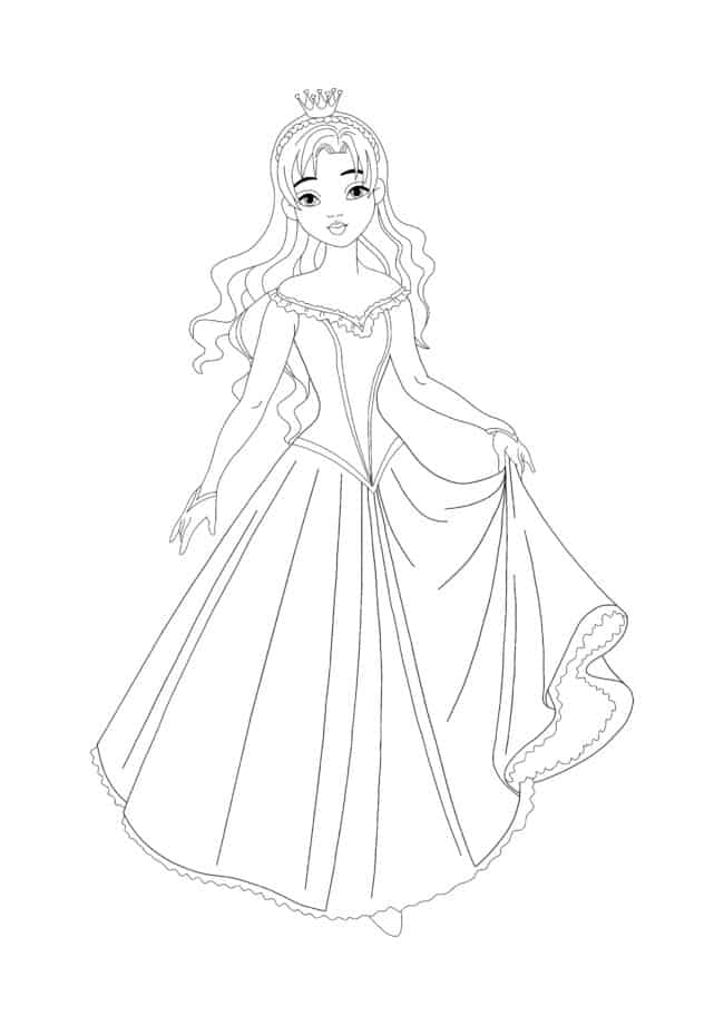 Coloriage Belle Princesse