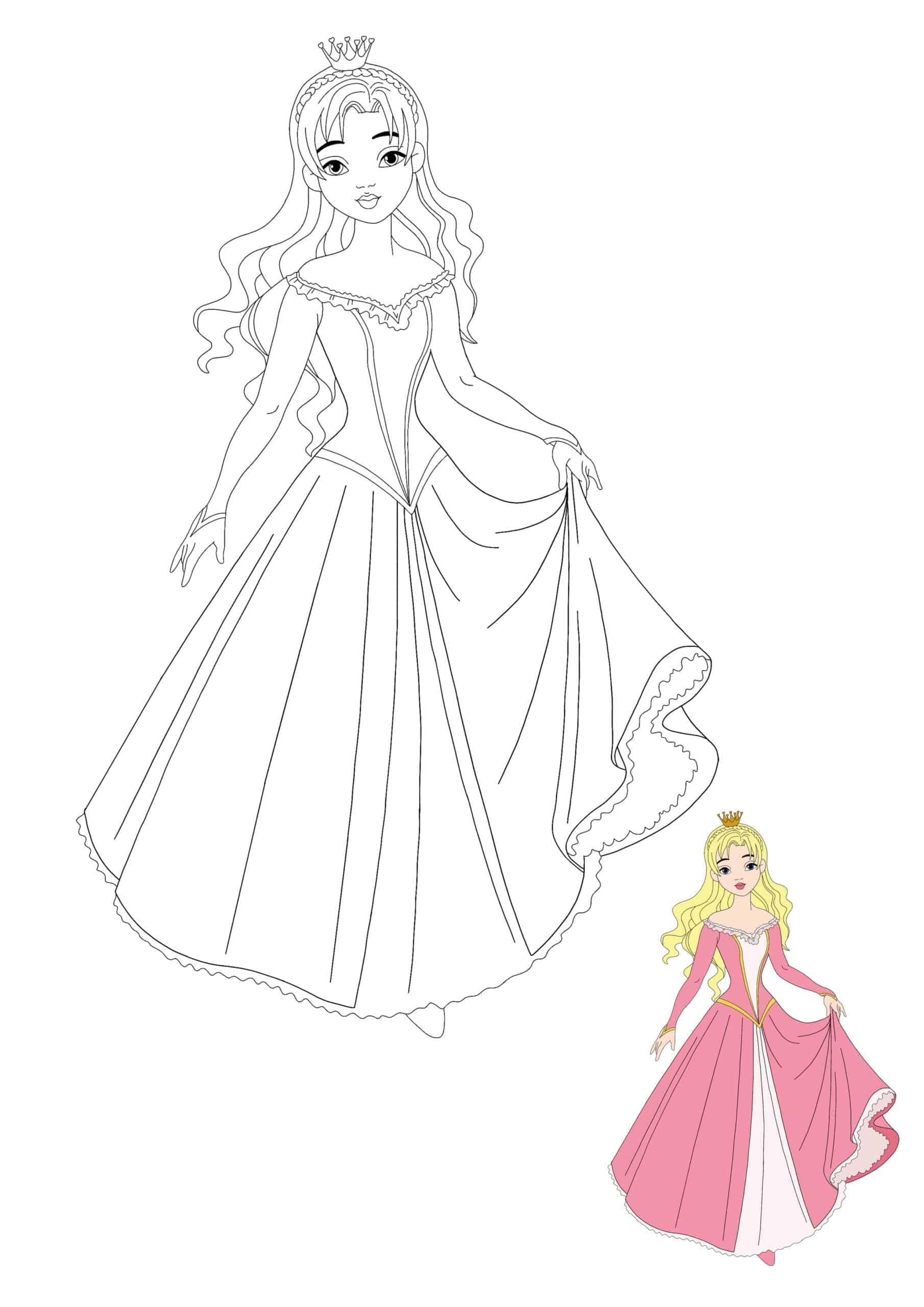 Beautiful Princess coloring sheet