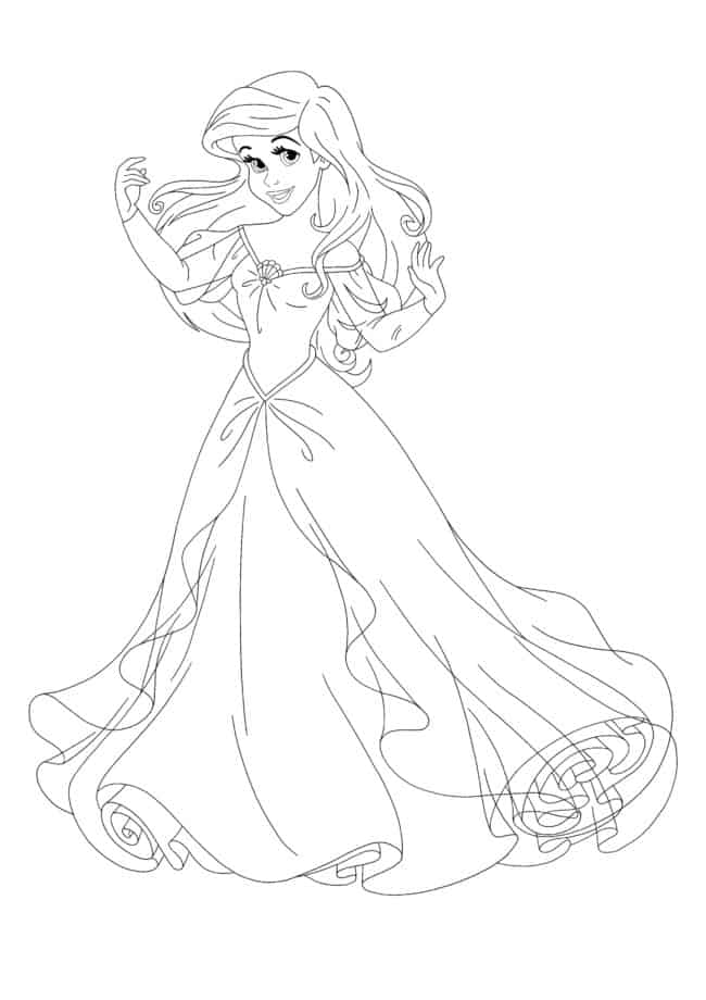 Disney Princess Ariel coloring page