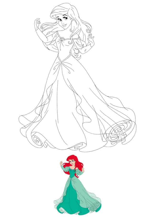 Disney Princess Ariel coloring sheet