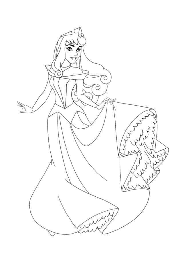 Disney Princess Aurora coloring page