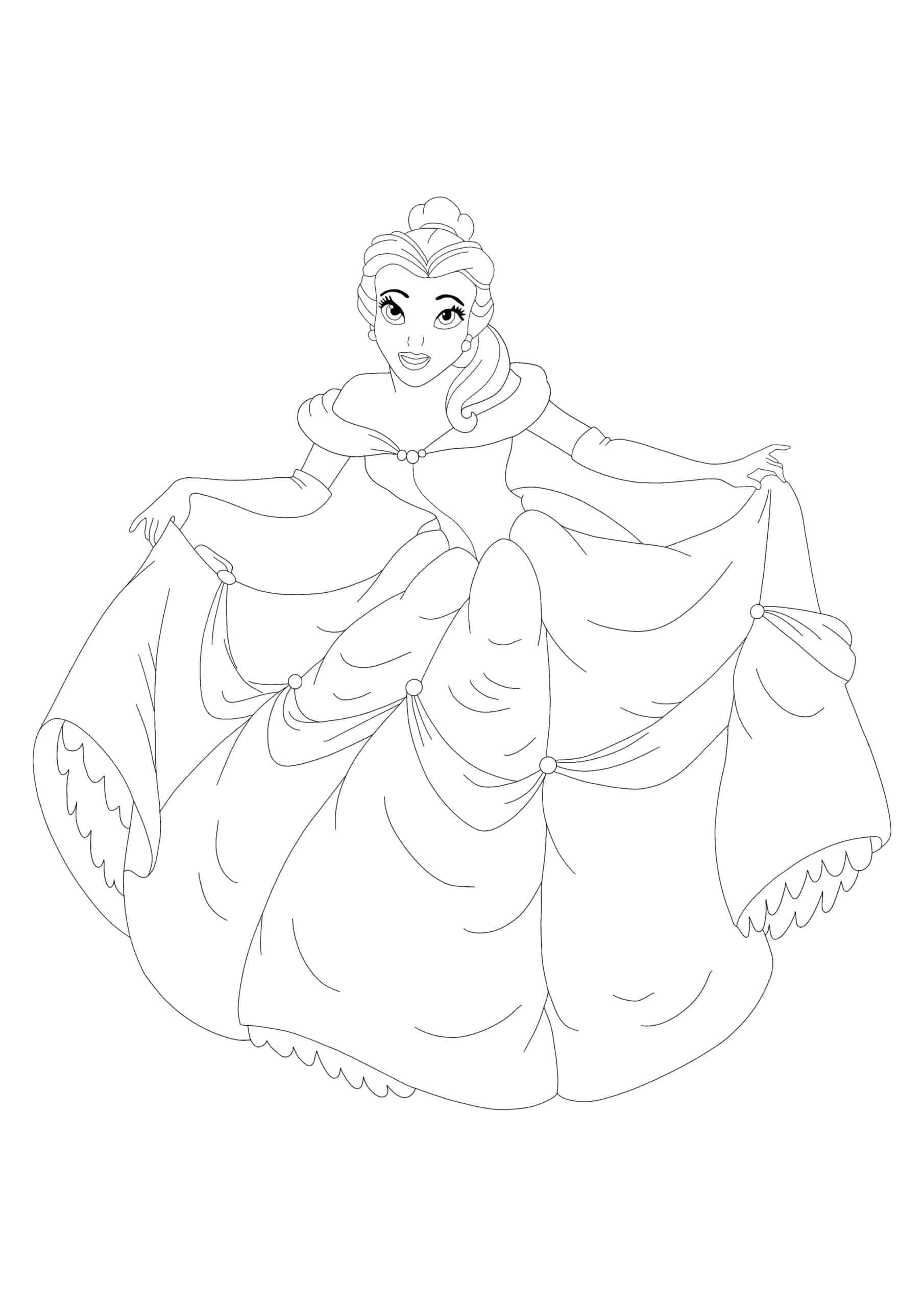 Disney Princess Belle coloring page
